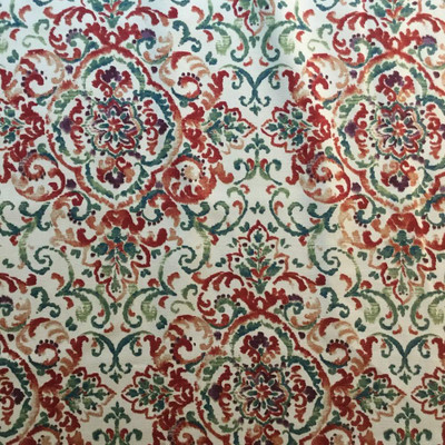 2.25 Yard Piece of Quentin Modern Damask Upholstery / Drapery Fabric   Duralee   54 W   By the Yard