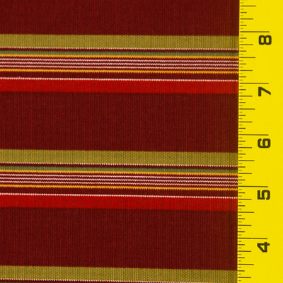 9.33 Yard Piece of Burgundy Stripe Fabric By The yard. 54W Discounted Price