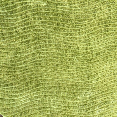 """Current in Kiwi   Lime Green Waves   Microfiber Upholstery Fabric   Regal Fabrics Brand   54"""" Wide   By the Yard"""