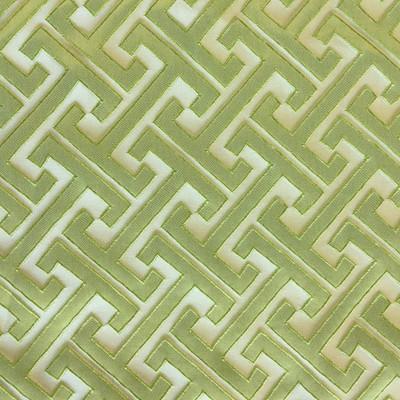 "Skylar in Leaf | Green Maze Geometric | Drapery Fabric | Regal Fabrics Brand | 54"" Wide | By the Yard"