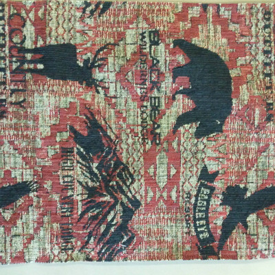 """Stockton in Redstone   Southwestern Wildlife Tapestry Red / Black   Upholstery Fabric   Regal Fabrics Brand   54"""" Wide   By the Yard"""