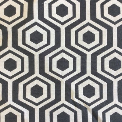 """Nano in color Black   Geometric Hexagons Black and White   Upholstery Fabric   Regal Fabrics Brand   54"""" Wide   By the Yard"""