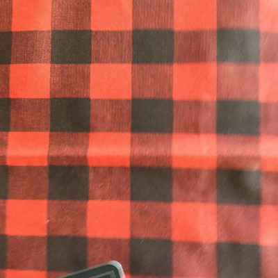 buffalo plaid in red and black
