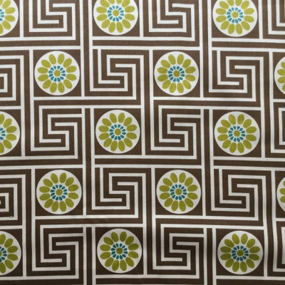 2.25 Yard Piece of Key Ring Maze in Brown Upholstery / Drapery Fabric | 54 Wide | By the Yard