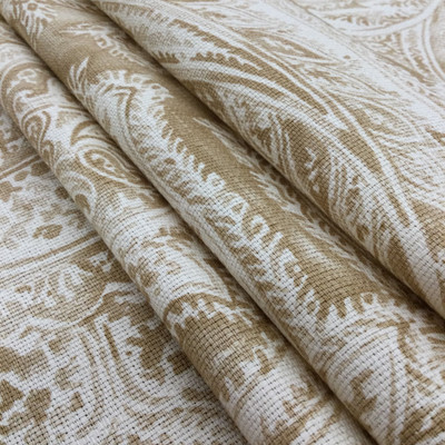 """Kingdom in Tussah   Paisley in Tan / Off-White   Upholstery / Drapery Fabric   P/Kaufmann   54"""" Wide   By the Yard"""