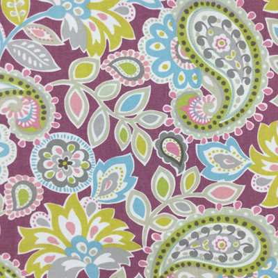 """Ollie in Berry   Paisley Floral in Purple / Blue / Green   Upholstery / Drapery Fabric   P/Kaufmann   54"""" Wide   By the Yard"""