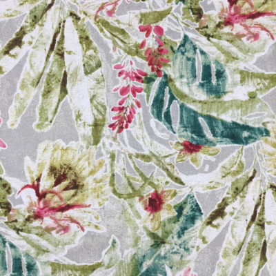 """Kamari in Sandrift   Tropical Floral in Green / Pink / Red   Upholstery / Drapery Fabric   Tommy Bahama   54"""" Wide   By the Yard"""