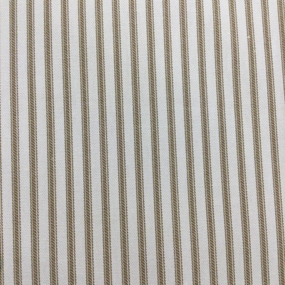 """Ticking Stripes in Brown and Off-White   Upholstery / Drapery Fabric   54"""" Wide   By the Yard"""
