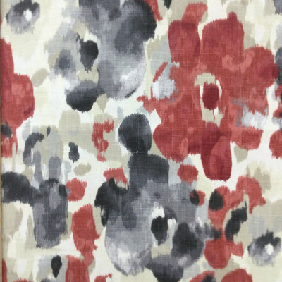 """Landsmeer in Currant   Abstract in Red / Grey / Silver / Beige   Upholstery / Drapery Fabric   Robert Allen   54"""" Wide   By the Yard"""
