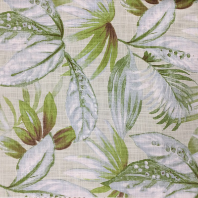 """Shady in Island   Tropical Foliage in Green / Light Blue / White   Upholstery / Drapery Fabric   Richloom   54"""" Wide   By the Yard"""