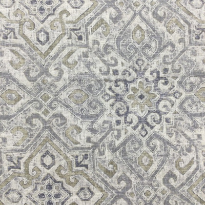 "Aztec / Southwest Design in Grey / Beige   Linen-Like   Upholstery / Drapery Fabric   Covington   54"" Wide   By the Yard"