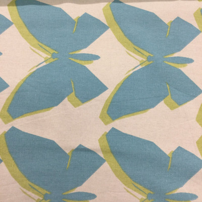 "Chambord in Carribean | Pop Art Butterflies in Blue / Green | Home Decor Fabric | Jennifer Adams Home | 54"" Wide | By the Yard"