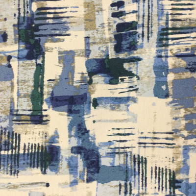 """Camoola in Denim   Abstract Blue / White / Tan   Outdoor Upholstery Fabric   54"""" Wide   By the Yard"""