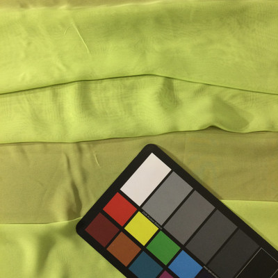 Lime Green Solid Polyester Chiffon Fabric | Lightweight Drape for Special Occasions | By The Yard | 60 Inch Wide