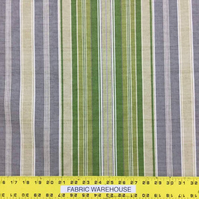 Vera Cruz By Tommy Bahama Green Stripe Printed Drapery And Upholstery Fabric