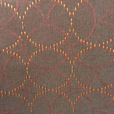 Maroon Black Red Circles Heavy Auto Vinyl Upholstery Fabric By The Yard 54 Inch