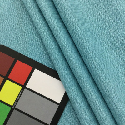 "Solid Sky Blue Slub Weave   Linen Like Fabric   Slipcovers / Drapery / Upholstery   54"" Wide   By the Yard"