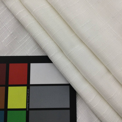 "Pocasset in Eggshell   Slub Woven White   Linen Like Fabric   Slipcovers / Drapery / Upholstery   Richloom   54"" Wide   By the Yard"