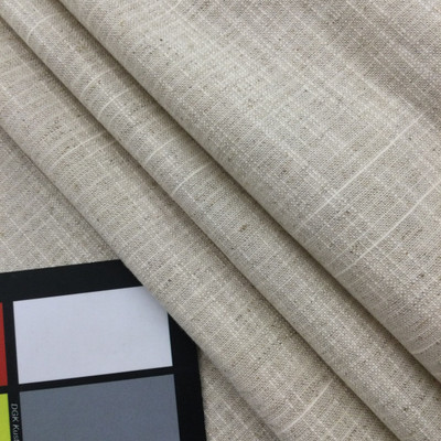 """Natural Flecked Linen Off-White   Linen Like Fabric   Slipcovers / Drapery / Upholstery   54"""" Wide   By the Yard"""