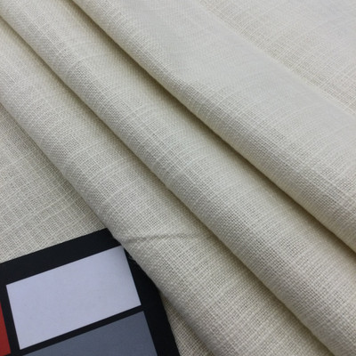 """Off-White Slub Weave   Linen Like Fabric   Slipcovers / Drapery / Upholstery   54"""" Wide   By the Yard"""