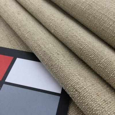"Beige Solid Slub Weave | Linen Like Fabric | Slipcovers / Drapery / Upholstery | 54"" Wide | By the Yard"