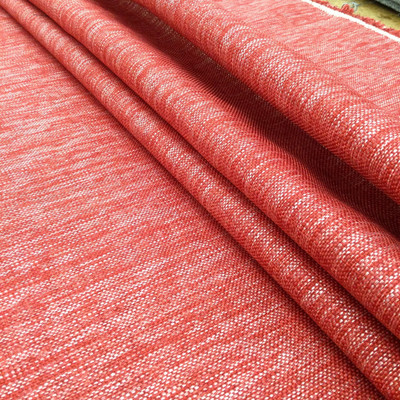 """Variegated Red and White   Upholstery / Slipcover Fabric   54"""" Wide   By the Yard"""