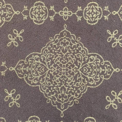 Brown Boucle with Gold Medallion Extra Heavy Upholstery Fabric | By The Yard