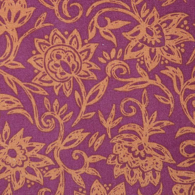 Robert Allen-Fucia/Orange Floral Drapery & Curtain Fabric By The Yard
