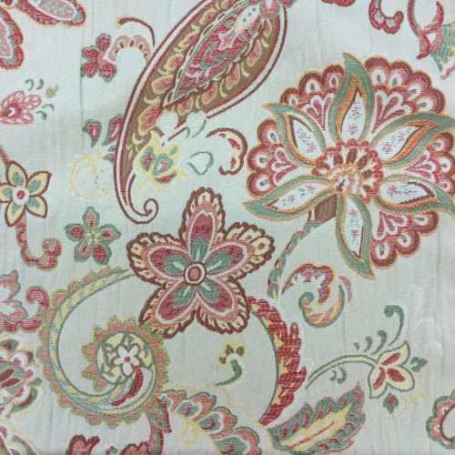 Sold By Yard Sofa Curtains Home Decor Vintage BRICK Reversible Damask Chenille Jacquard Drapery Upholstery Fabric