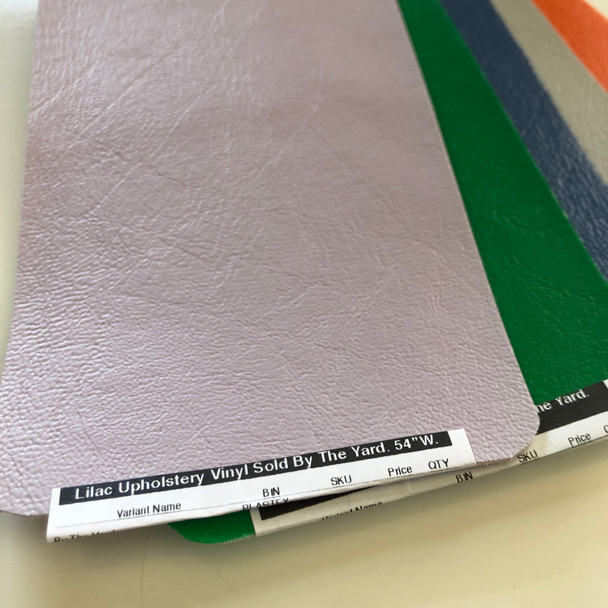"""Lilac Upholstery Vinyl Sold By The Yard.   54""""W."""
