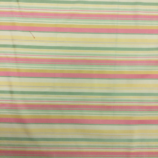 Retro Stripes in Yellow, Green, Red | Upholstery Fabric | 56 Wide | By the Yard
