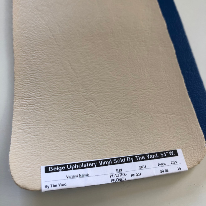 "Beige Upholstery Vinyl Sold By The Yard.   54""W."