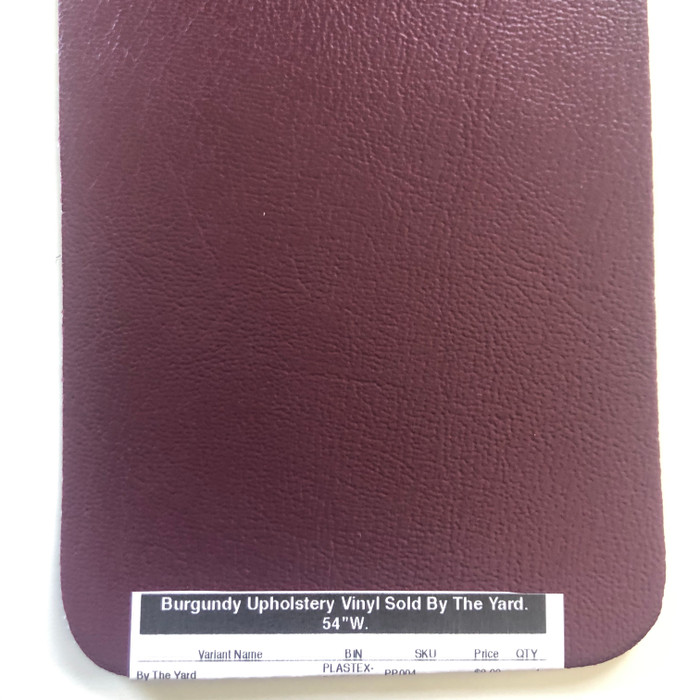 """Burgundy Upholstery Vinyl Sold By The Yard.   54""""W."""