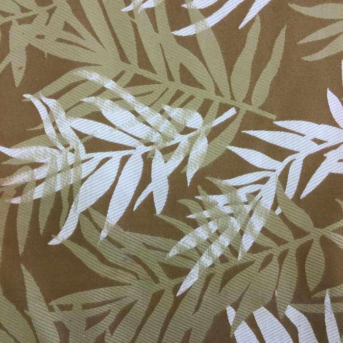 Fern Leaves in Brown / Tan / White | Upholstery Fabric | 54 Wide | By the Yard
