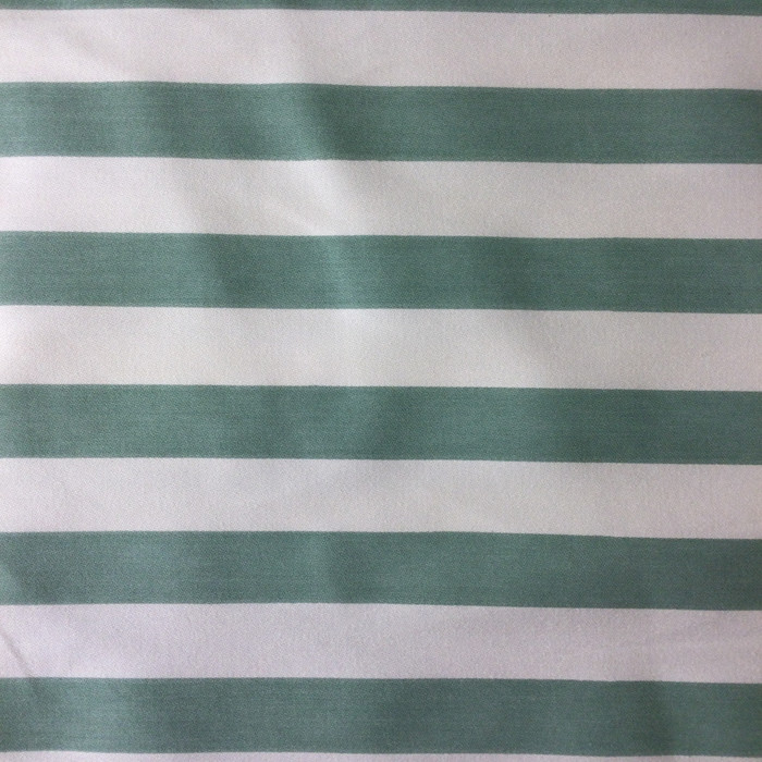 "Green / White Vertical Stripes | Home Decor Fabric | Upholstery / Drapery | 54"" Wide 
