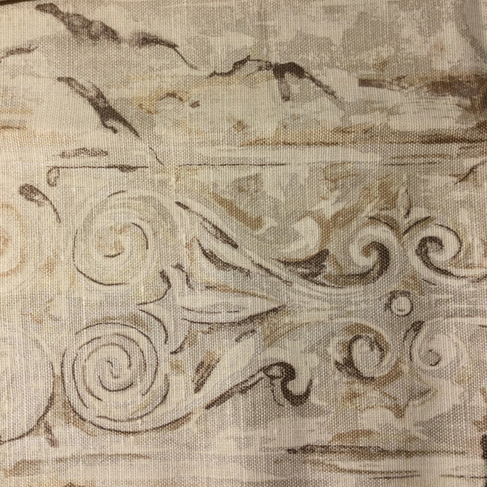"Rodin Decorative Shabby Stripes Brown | Home Decor Fabric | Upholstery / Drapery | 54"" Wide 