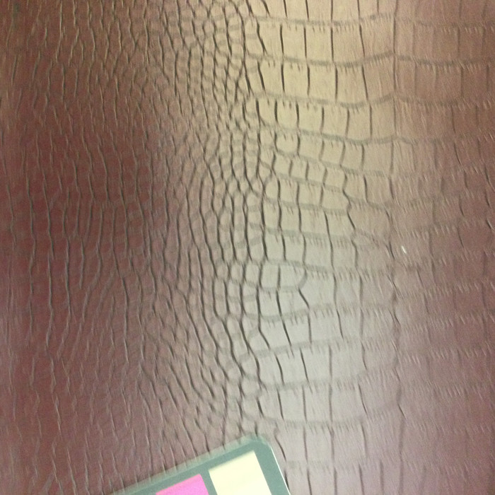 Burgundy Faux Reptile Vinyl Fabric | Upholstery / Bag Making | 54 Wide | By the Yard