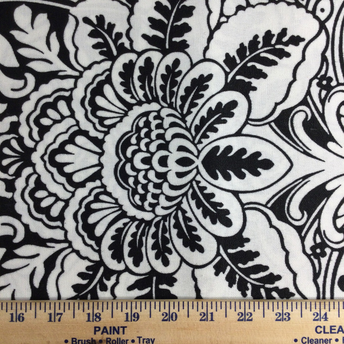 """Black and White Damask 