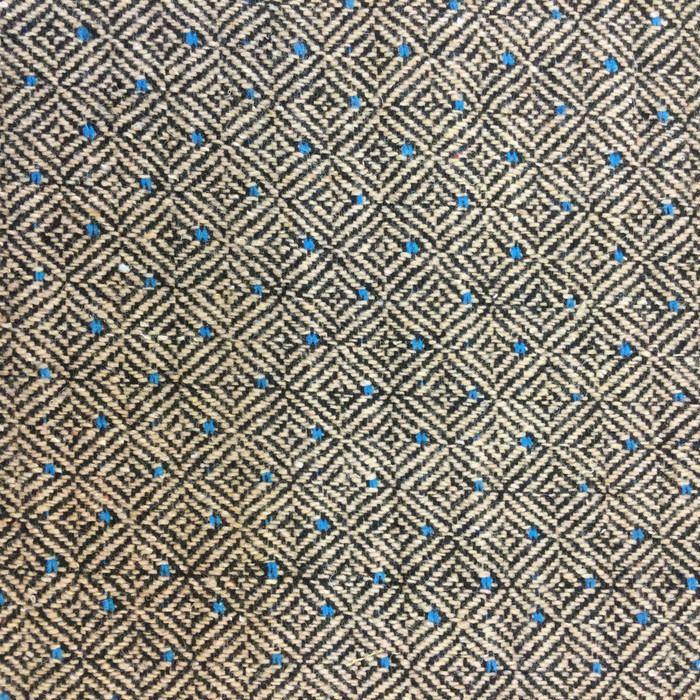 "Diamond Weave Gray / Beige / Blue | Upholstery Fabric | 54"" Wide 