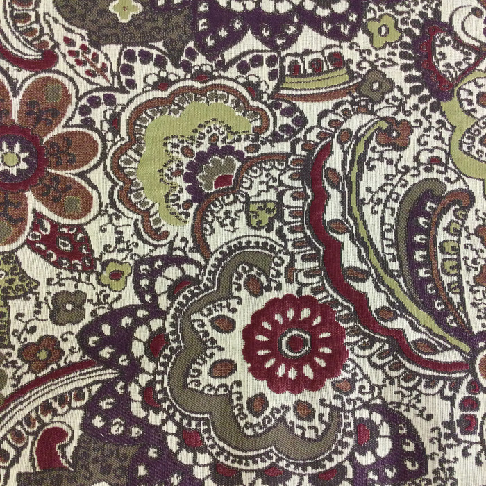 """Paisley Floral Purple / Green / Red 
