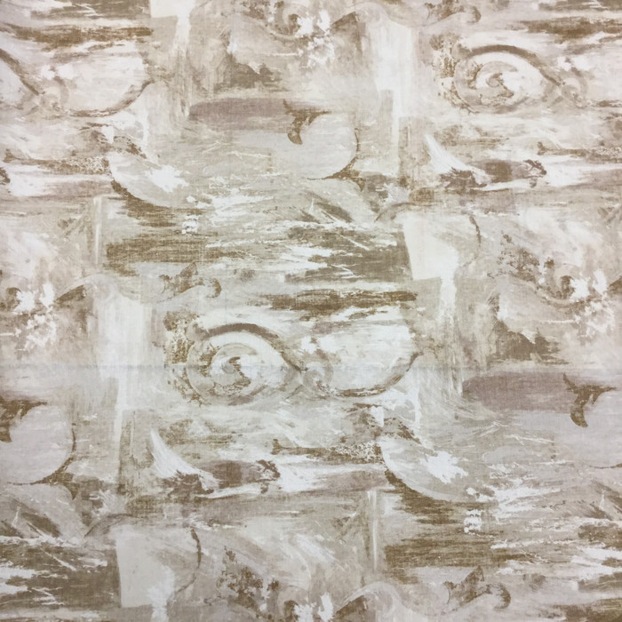 Abstract in Tan and Beige | Home Decor Fabric | Sandpiper Studios | 56 W | BTY