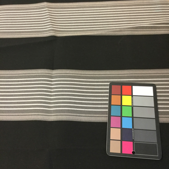 "Black / Gray / White Stripes | Outdoor Awning / Upholstery Fabric | Sunbrella-like | 46"" Wide 