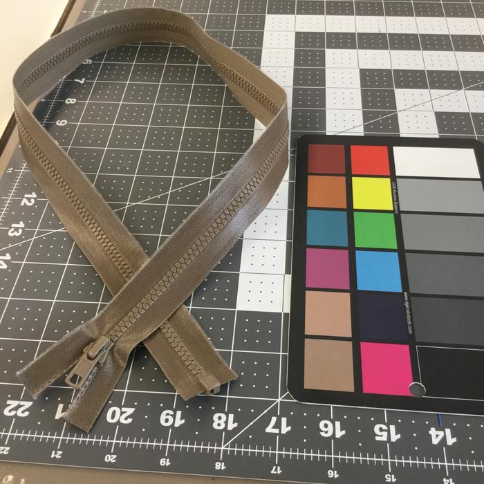 "31"" Separating Zipper | Tan | Molded Plastic | YKK Brand | Jackets"