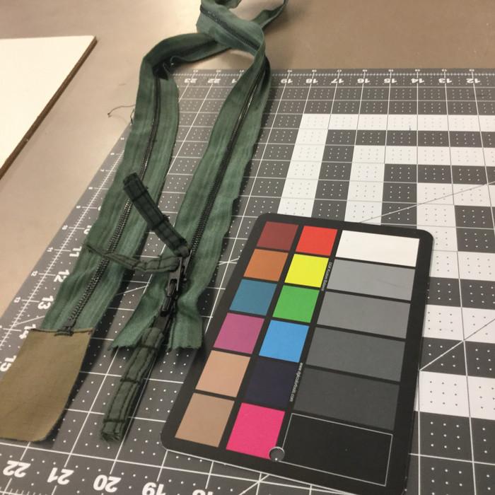 "49.3"" Metal Zipper - 3 pulls   Sage Green   Military"