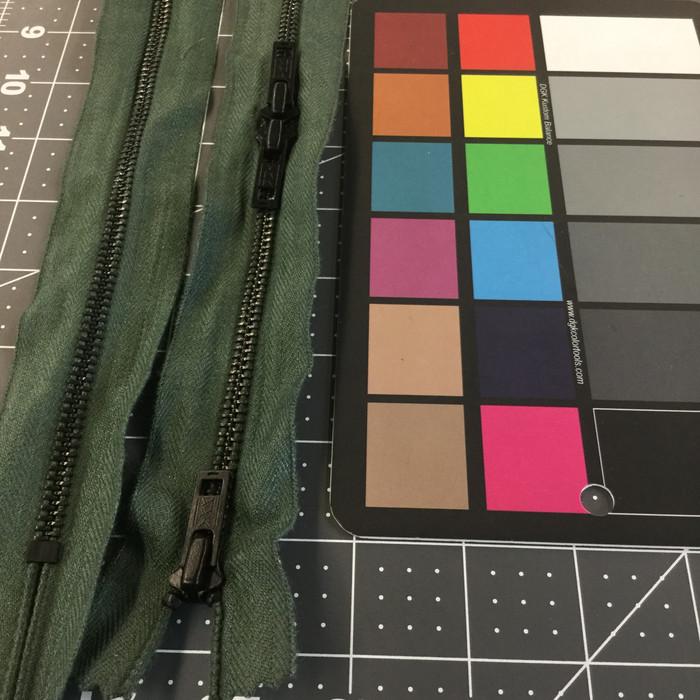 "48.5"" Metal Zipper - 3 pulls | Sage Green | Military"
