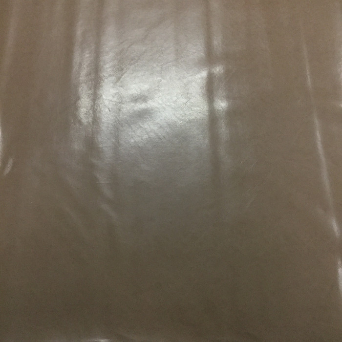 0.8 Yard Piece of Faux Leather Vinyl Fabric | Glossy Brown Lightly Textured | Felt-Backed | Upholstery / Bag Making | 54 Wide