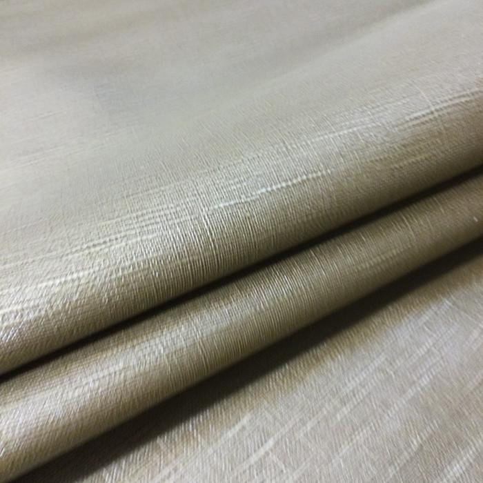 1.4 Yard Piece of Vinyl Fabric | Bronze Slub Woven Texture | Upholstery / Bag Making | 54 Wide