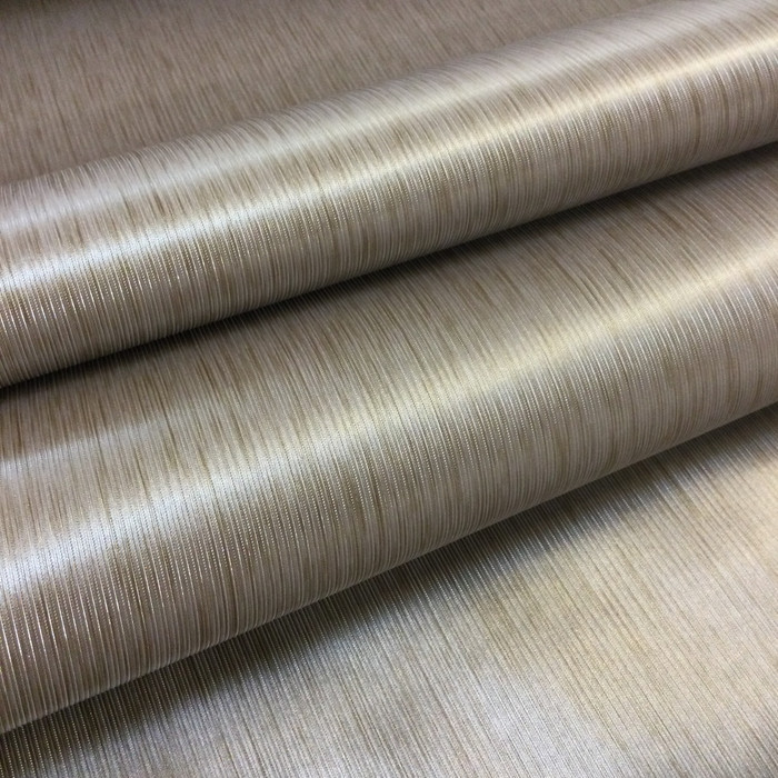 5.8 Yard Piece of Vinyl Fabric | Bronze Striped Texture | Felt-Backed | Upholstery / Bag Making | 54 Wide