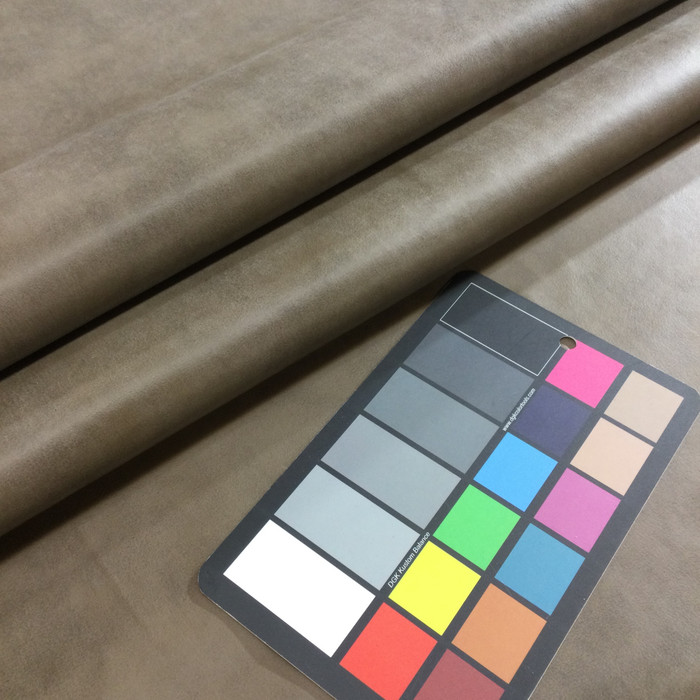 5.8 Yard Piece of  Faux Leather Vinyl Fabric | Taupe | Upholstery / Bag Making | 54 Wide