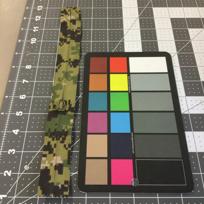 10.5 Inch Non Separating Pocket Zipper | Digital Green Camouflage | Single Pull |